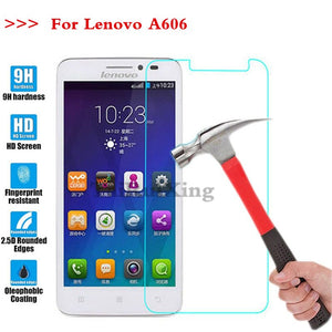 (TaiRuiXing) Screen Protector Film 0.3mm 9H 25D Front Premium Tempered Glass For Lenovo A606 A 606 Cover