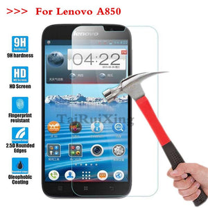 (TaiRuiXing) Screen Protector Film 0.3mm 9H 25D Front Premium Tempered Glass For Lenovo A850 A850 A 850 Cover