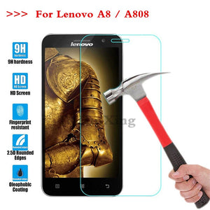 (TaiRuiXing) Screen Protector Film 0.3mm 9H 25D Front Premium Tempered Glass For Lenovo A8 A808 A 808 Cover