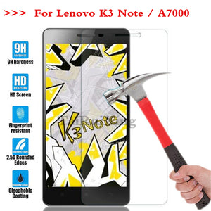 (TaiRuiXing) Screen Protector Film 0.3mm 9H 25D Front Premium Tempered Glass For Lenovo K3 Note K50-t5 A7000 A 7000 Cover