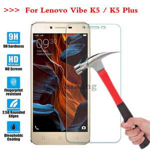 (TaiRuiXing) Screen Protector Film 0.3mm 9H 25D Front Premium Tempered Glass For Lenovo K5 K5 Plus A6020 5.0 Inch Cover