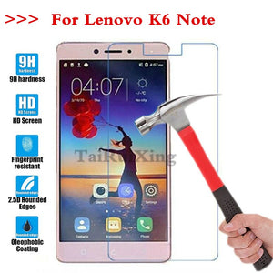 (TaiRuiXing) Screen Protector Film 0.3mm 9H 25D Front Premium Tempered Glass For Lenovo K6 Note 5.5 Inch Cover