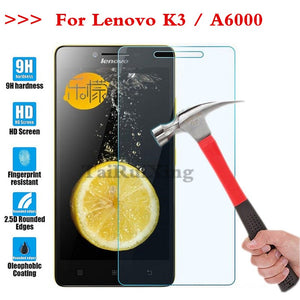 (TaiRuiXing) Screen Protector Film 0.3mm 9H 25D Front Premium Tempered Glass For Lenovo Lemon K3 K30-T K30-W A6000 A 6000 Cover