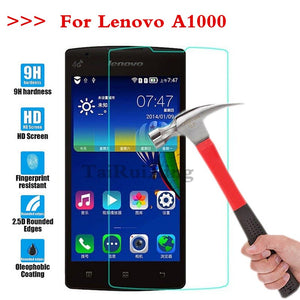 (TaiRuiXing) Screen Protector Film 0.3mm 9H 25D Front Premium Tempered Glass For Lenovo Lenovo A1000 A 1000 Cover