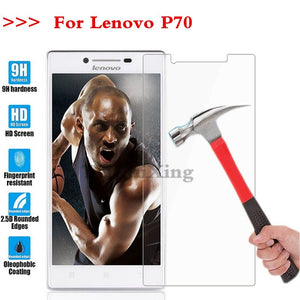 (TaiRuiXing) Screen Protector Film 0.3mm 9H 25D Front Premium Tempered Glass For Lenovo P70 P 70 Cover