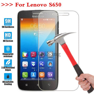 (TaiRuiXing) Screen Protector Film 0.3mm 9H 25D Front Premium Tempered Glass For Lenovo S650 S 650 Cover