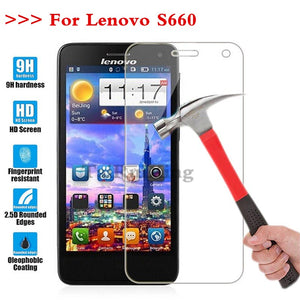 (TaiRuiXing) Screen Protector Film 0.3mm 9H 25D Front Premium Tempered Glass For Lenovo S660 S 660 Cover