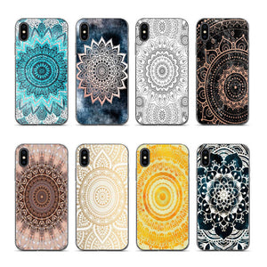 Aiboduo In Blue Mandala For Coque Iphone XR For Apple IPhone 6 6plus 6s 7 8 7plus 8plus Xr Xs Xsmax