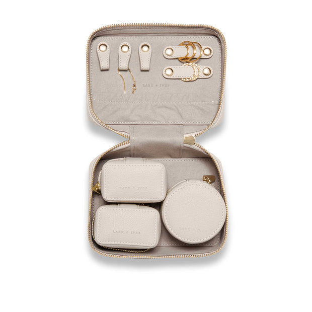 Latte Jewelry Case with Organizers