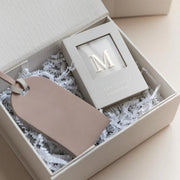 Luggage Tag + Monogram Gift Set