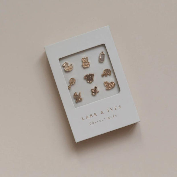 Lark and Ives Pins / Gold Pin / Lapel Pin / Pin Accessory / Baby Themed
