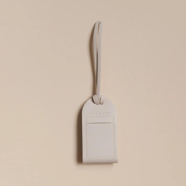 Lark and Ives Beige Luggage Tag / Vegan Leather Accessories