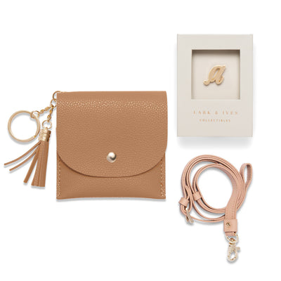Card Purse + Crossbody Strap + Monogram Bundle