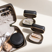 Caviar Black Jewelry Case with Organizers