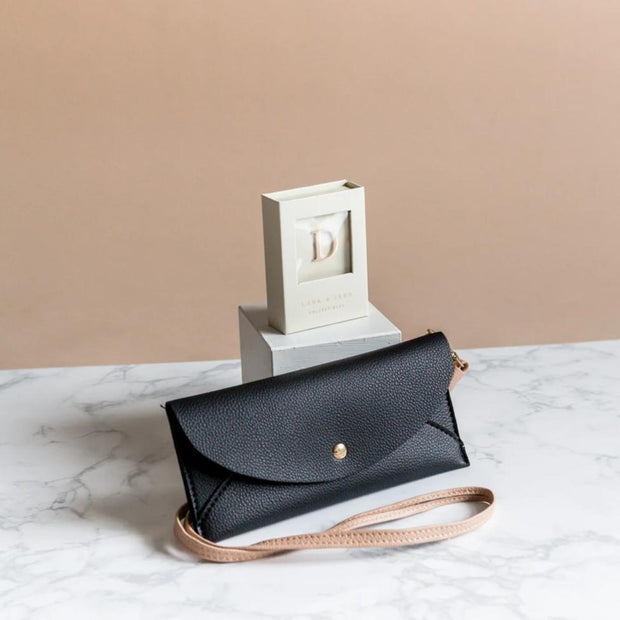 Lark and Ives Purse with Pin / Long Wallet with Pin / Lapel Pin / Vegan Leather Accessories