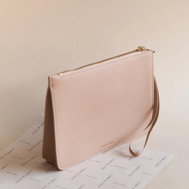 Lark and Ives Nude Clutch / Minimal Purse / Vegan Leather Accessories