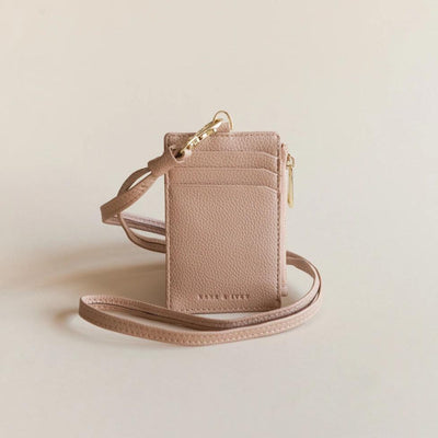 Lark and Ives Nude Lanyard Cardholder / Vegan Leather Accessories