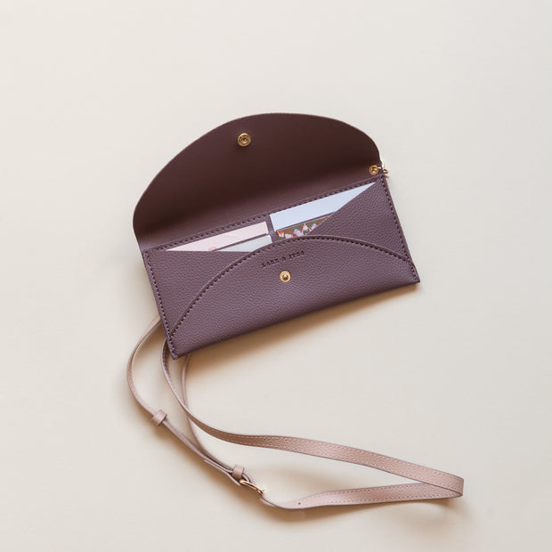 Lark and Ives Mauve Purse / Long Wallet / Slim Wallet / Small Purse / Vegan Leather Accessories