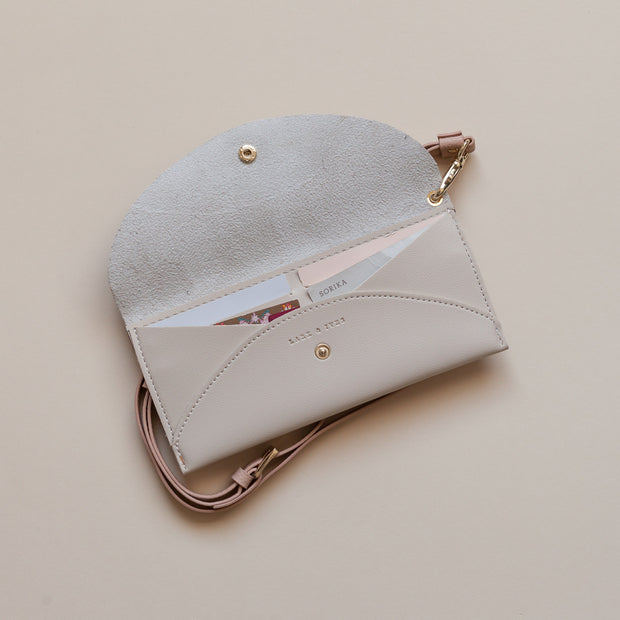Lark and Ives Cream Purse / Long Wallet / Slim Wallet / Small Purse / Vegan Leather Accessories