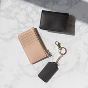 Minimal Essentials Bundle (Zippered Cardholder, Petite Card Case, Keyholder)