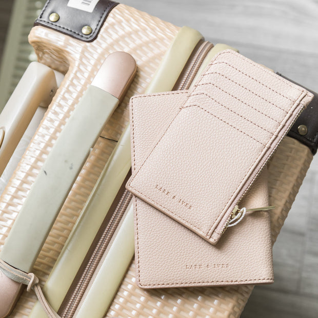 Passport Holder + Long Zippered Cardholder Bundle
