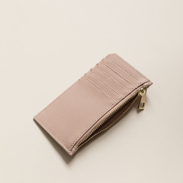 Lark and Ives Nude Zippered Card Purse / Zippered Long Wallet / Card Holder / Vegan Leather Accessories