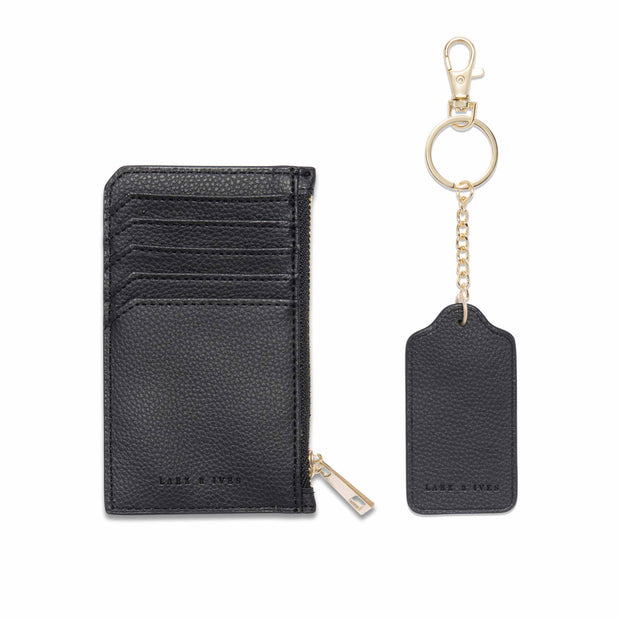 Long Zippered Card Holder and Keychain Bundle
