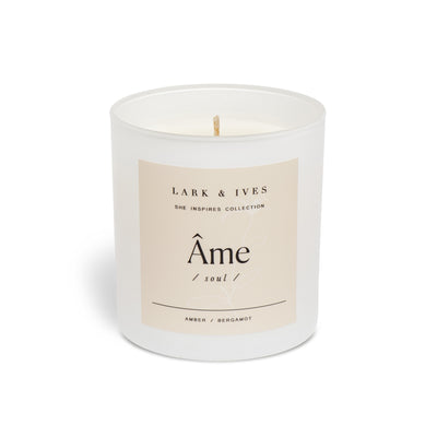 Lark and Ives Amber and Bergamot Candle / Soy Candle / Ethically Made