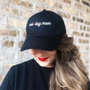Cool Dog Mom Embroidered Baseball Hat - Hats