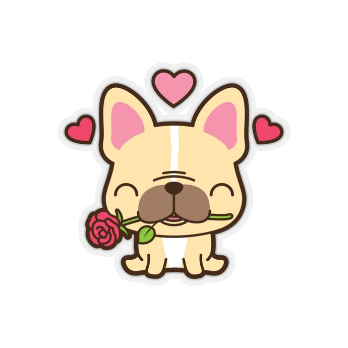 WILL YOU ACCEPT THIS ROSE FRENCHIE STICKER - Stickers