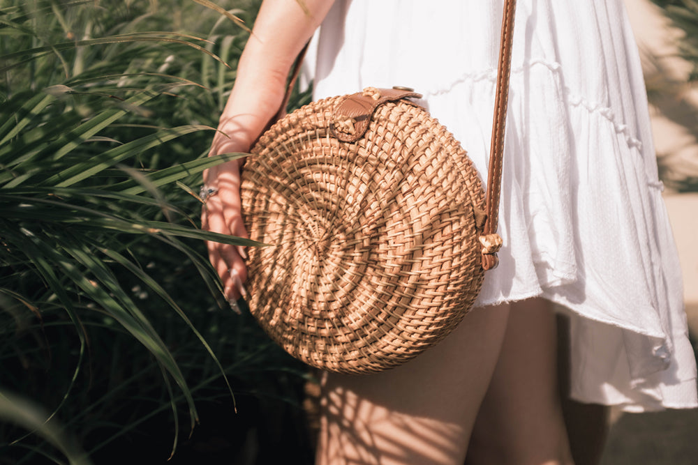round rattan bag for sale