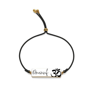 Cord Bracelet Jaylon (Omenuf) Silver or Gold Accent