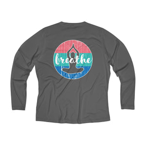 Athletic Moisture Wicking Long Sleeve V-neck Tee (Omenuf - Breathe)