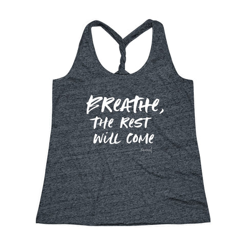 Cosmic Twist Back Tank Top (Breather, the Rest Will Come)