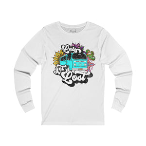 LETS GET LOST (VW Bus) Unisex Jersey Long Sleeve Tee - 7 Colors