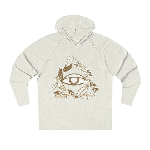 BOHO ALL SEEING EYE - Unisex Tri-Blend Lightweight Hoodie