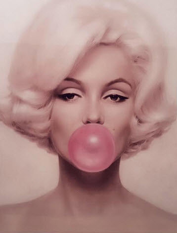 Retro Marilyn Monroe Bubblegum Tin Sign - DealsandLiquidations.com