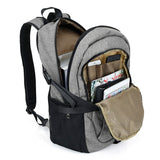 Casual Durable Canvas Backpack with USB Port for Men