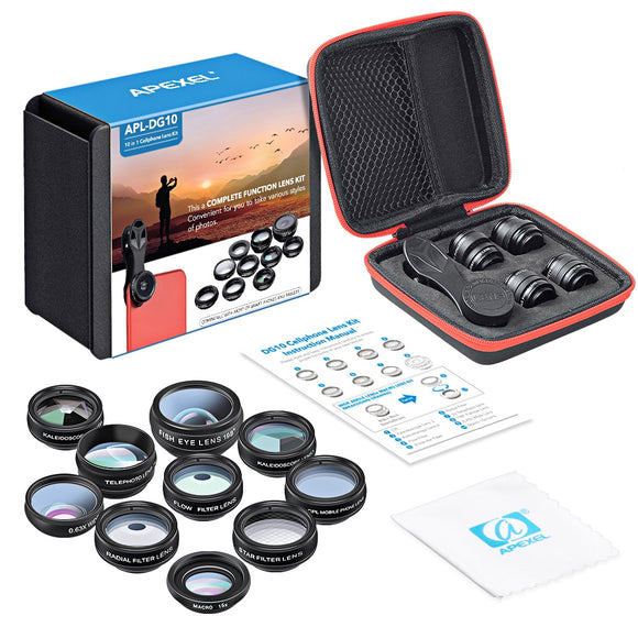 10 in 1 External Phone Camera Lens Kit