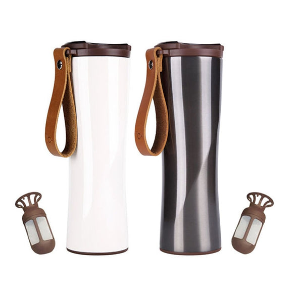 Stainless Steel Smart Coffee Cup with OLED Touch Screen Temperature Display