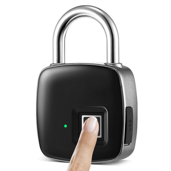 Fingerprint Padlock Rechargeable & Waterproof- 1 Charge last 2-years