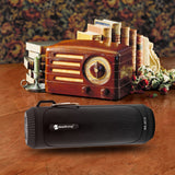 Outdoor Wireless Bluetooth Stereo Speaker with LED Flashlight