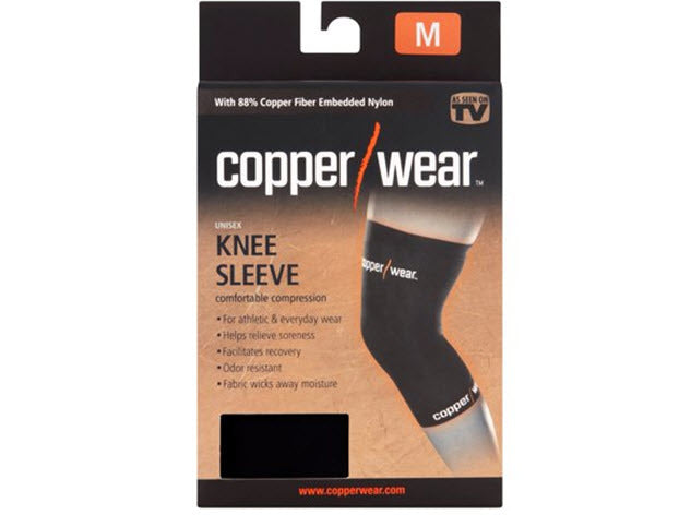 a6214e6eef As Seen on TV Copper Wear Knee Sleeve (2 PACK) I Best Price & Free ...