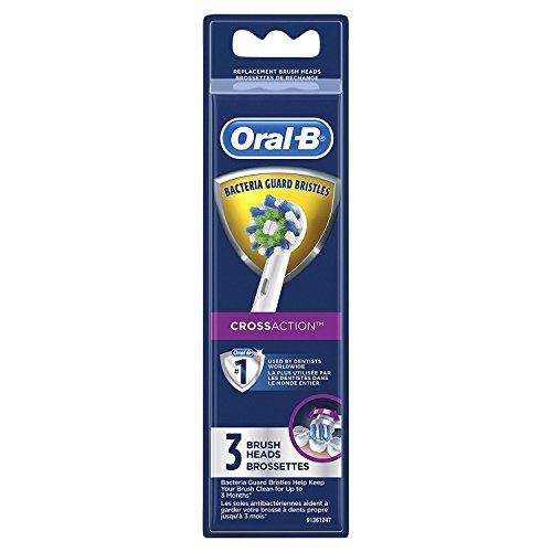 Oral-B CrossAction Electric Toothbrush Replacement Brush Heads 3 Count - DealsandLiquidations.com