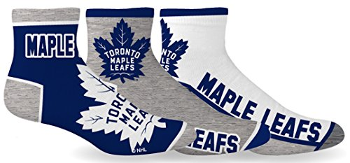 NHL Toronto Maple Leafs Men's 3-Pack Socks
