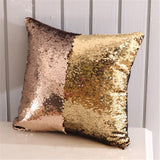 Pillow Covers Decorative Sequin Pillow Cover Magical Shining Changing Reversible Patchwork Pillow Case