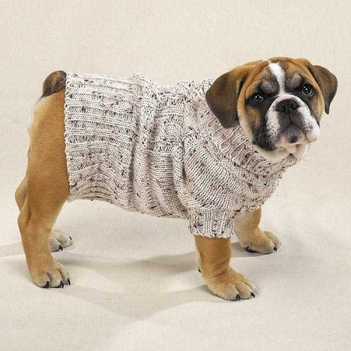 CLASSIC IRISH KNIT DOG SWEATER -X-LARGE by Casual Canine
