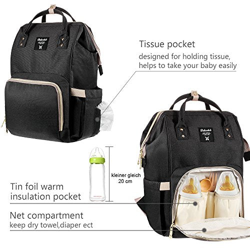 Diaper Bag Backpack Multi-Function Waterproof (Vivi Secret) - DealsandLiquidations.com
