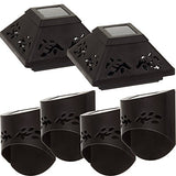 Fusion Solar 6 Piece Set - 4 Wall Lights, 2 Post Lights - DealsandLiquidations.com