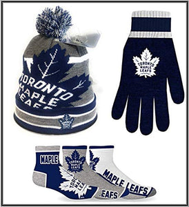 cf22dc9e330 Toronto Maple Leafs NHL Licenced Winter Bundle (Beanie